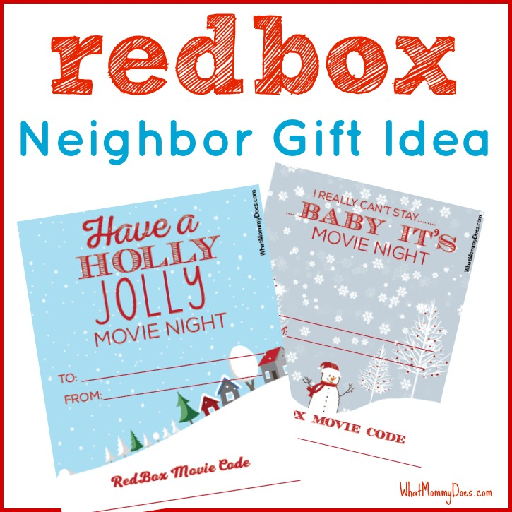 photo regarding Free Printable Redbox Gift Tags identify Lovely Redbox Neighbor Xmas Present Concept - What Mommy Does