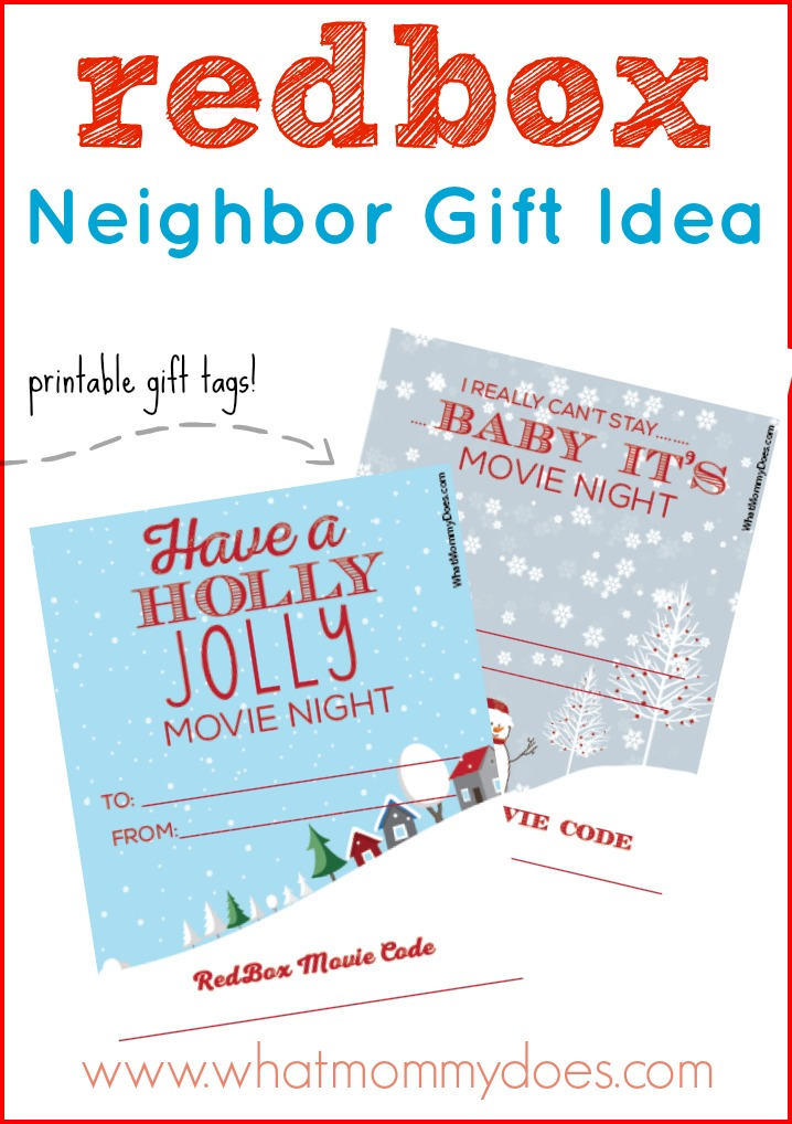 picture about Printable Redbox Gift Cards identified as Lovable Redbox Neighbor Xmas Present Concept - What Mommy Does