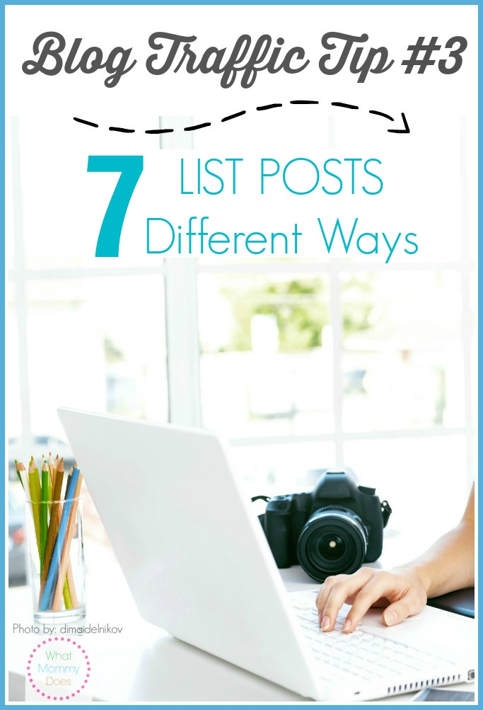 Post #3 in my blogging tips and tricks series- EXAMPLES OF 7 TYPES OF LIST POSTS THAT WORK! These tutorials will help you get more traffic to your blog. More blog visitors will ultimately help you make more money! This series has great ideas for beginning and advanced bloggers.