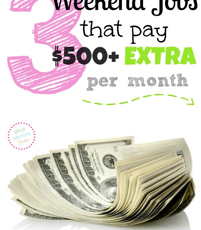 Looking for ways to make exra money on the side? Here are 3 practical ways to earn $500 or even $1,000 extra monthly on the weekend. These are specific money-making ideas perfect for anyone who loves to be outside. Worth a read if you could use some extra income for your family...ends with a list of a ton of other ideas, too!