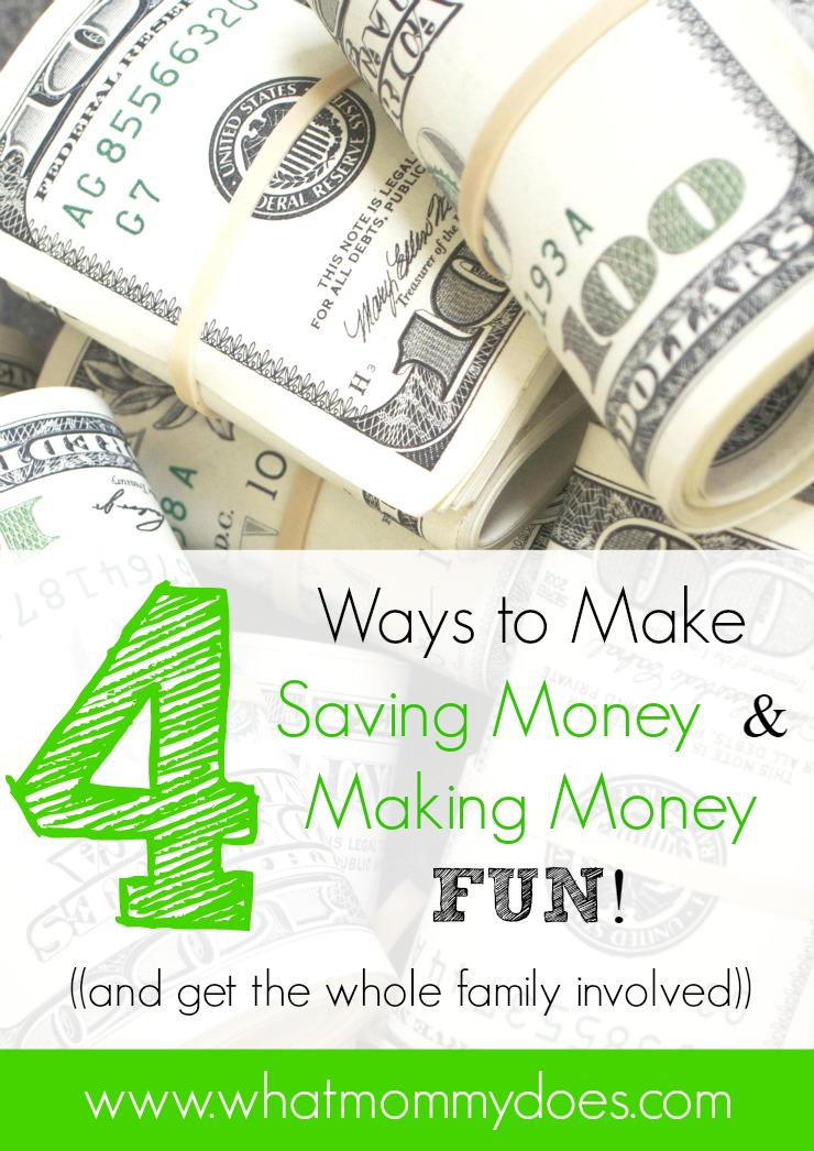 Whether you need an easy money making idea or a creative money saving idea, this list has you covered! Here are 4 unique ways to make saving money and making money fun again. Even the kids can get involved!