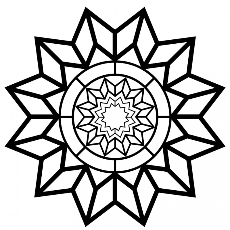 Free Printable Adult Coloring Page – Detailed Star Pattern