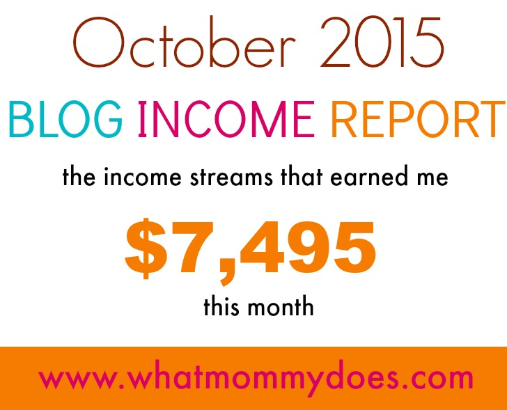 October 2015 blog income report