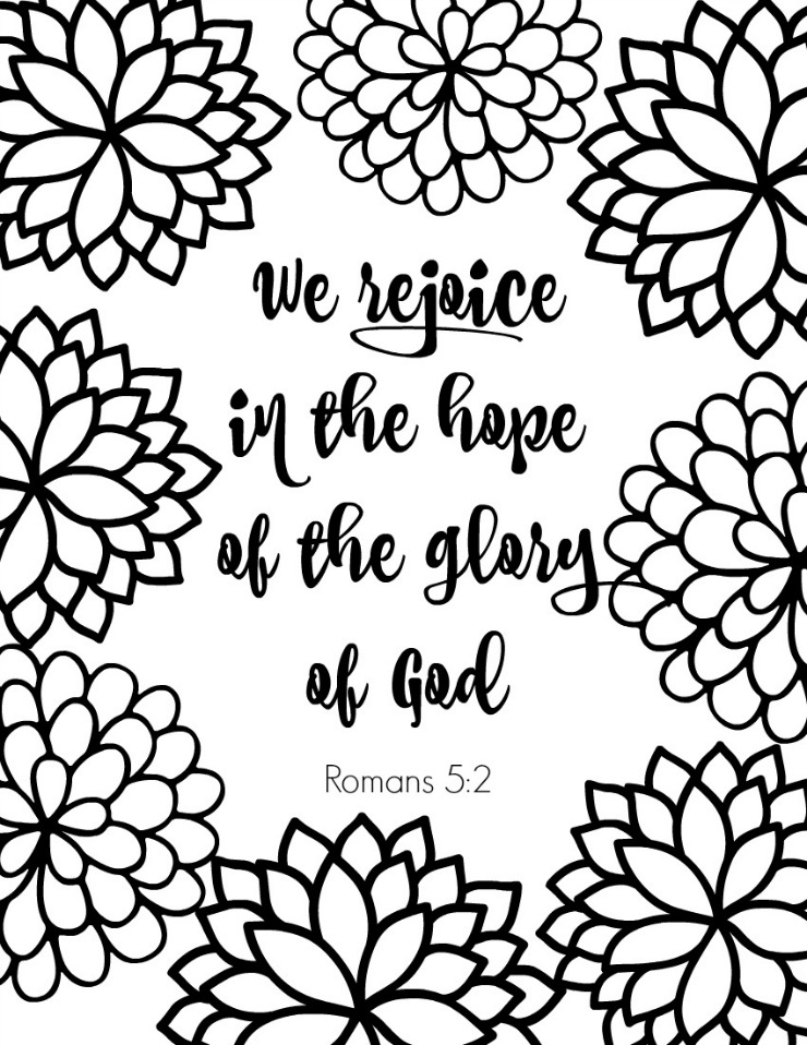 Romans Bible Verse Coloring Page - Here's my latest free printable Christian adult coloring page. Perfect for Sunday school or just because. Free download at this link.