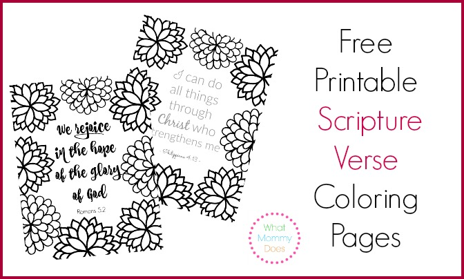 free printable scripture verse coloring pages what mommy does - Christian Coloring Pages Print