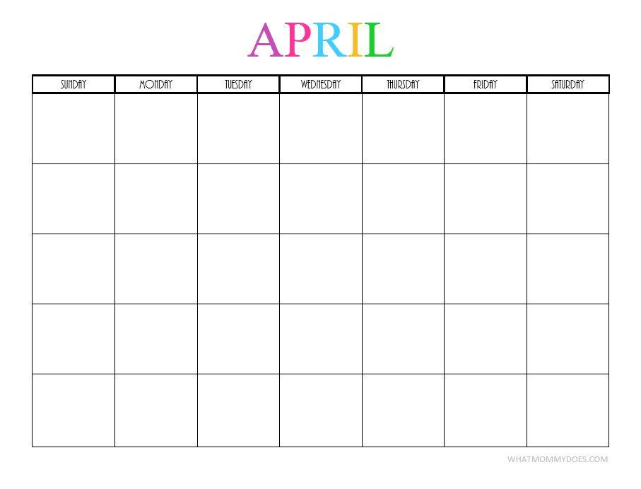 April blank