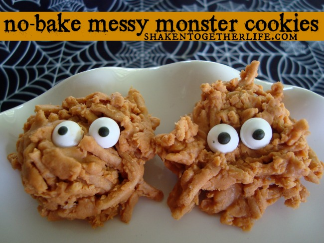 No Bake Messy Monster Cookies from Shaken Together Life