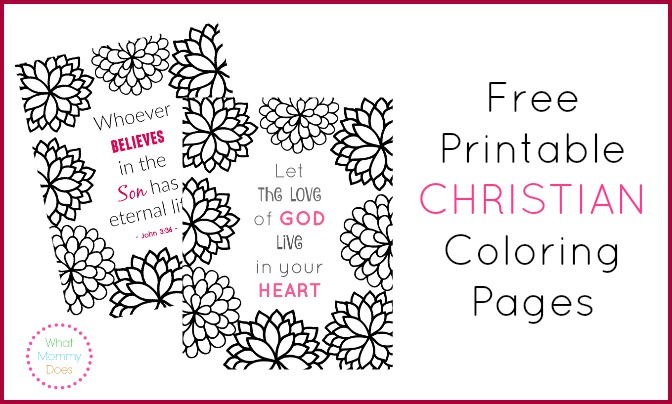 free printable christian coloring pages what mommy does - Free Coloring Page