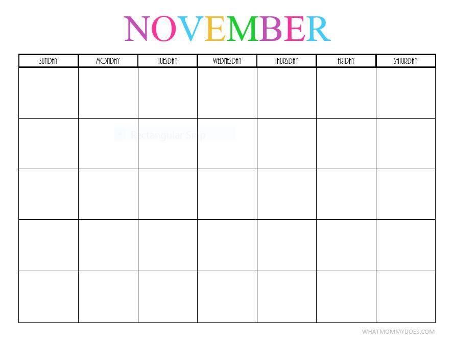 November blank