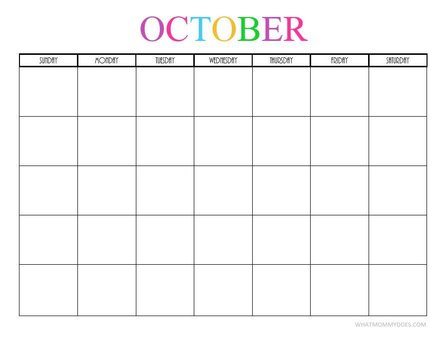 October blank