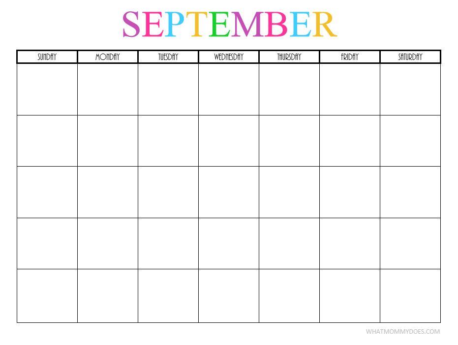 September blank