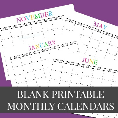 image regarding Printable Blank Monthly Calendar called Cost-free Printable Blank Month to month Calendars - 2019, 2020, 2021