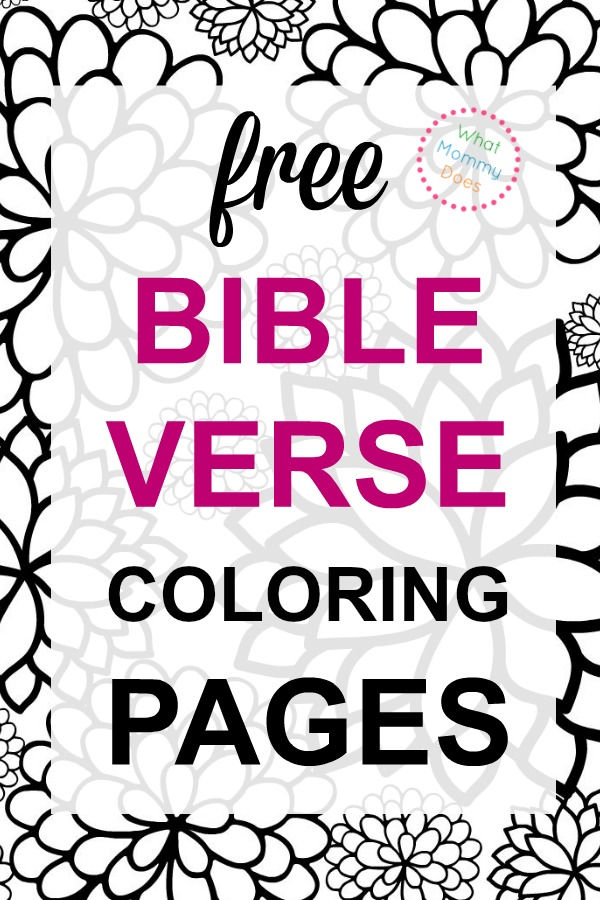 - Bible Verse Coloring Pages Collection - What Mommy Does