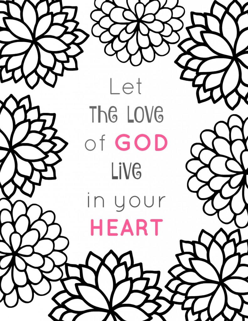 Christian Heart Coloring Pages Christian Resources for Sunday ...