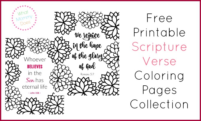 scripture verse coloring pages collection