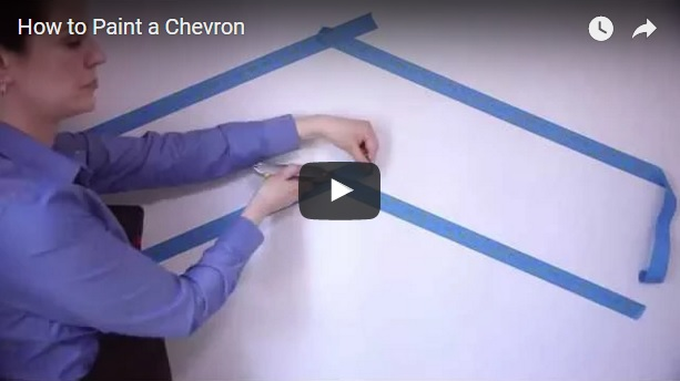 how to paint a chevron striped pattern