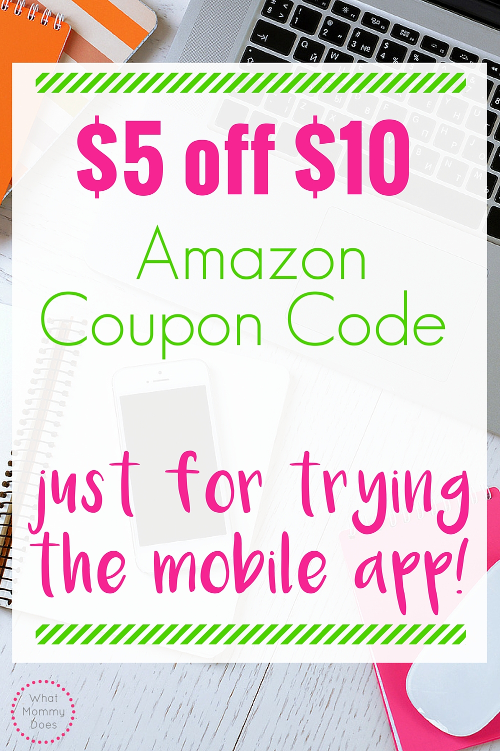 Amazon App Deal - Save $5 on your first $10 purchase using the Amazon mobile app. Great way to save money on Amazon!
