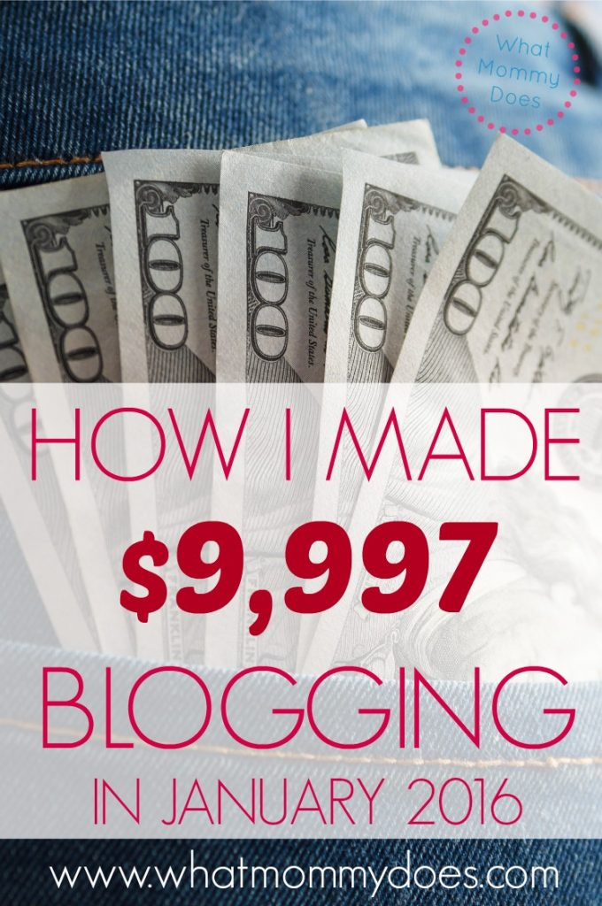 how I made 9997 blogging in january 2016