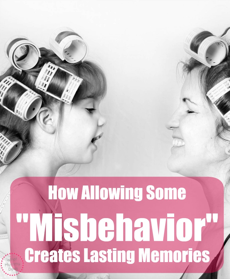 misbehavior lasting memories mother daughter mom hair rollers
