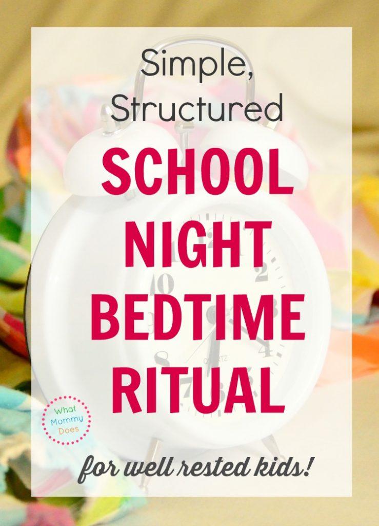 school night bed time ritual