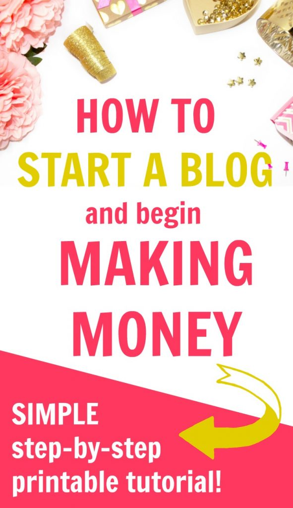 start a blog being making money