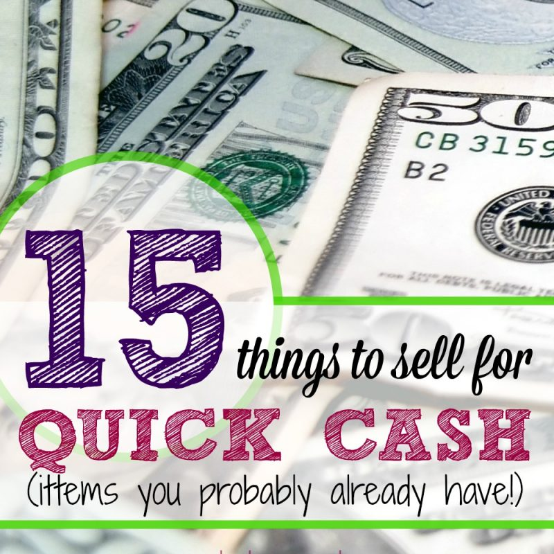 Don't forget about these 15 things you can sell easily for extra money. If you need money now, you can find these things from around the house to sell & you probably won't even miss them! Don't sell yourself short - you can get a good price for these 15 things! This is for extra money, like $50 or $100. For ideas on making $1000 or more, read the money making series on this blog! || earn extra cash, money making ideas, things to sell
