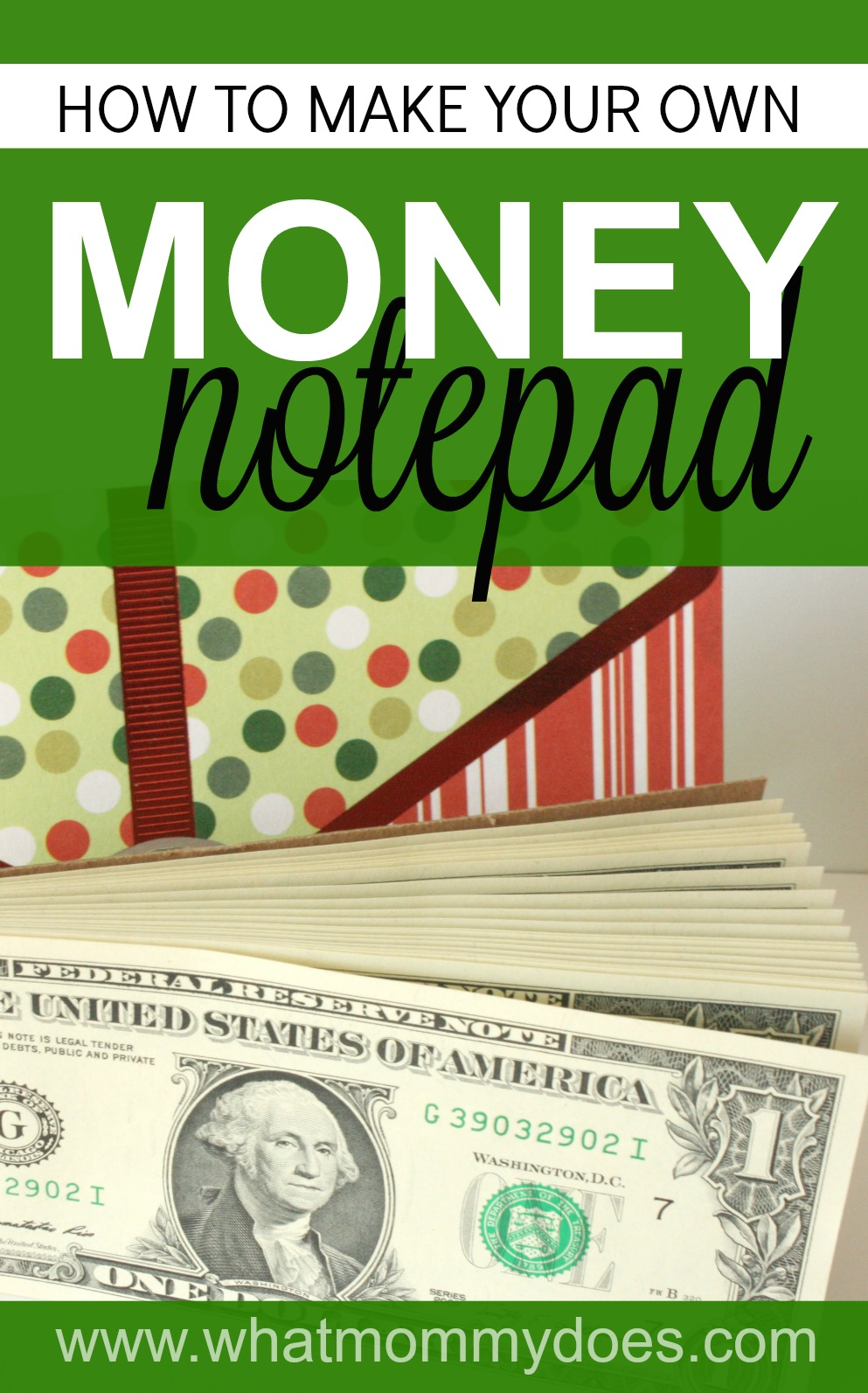 I love finding unique ways to give money as a gift! This is just about the most creative money gift idea I've ever come across! A money notepad! This will be perfect for my niece at Christmas!!! | clever aunt ideas, live love learn, best DIY gift ideas, fun crafts to make