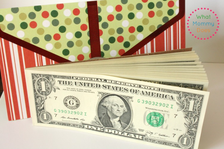 dollar bill pads as a gift idea