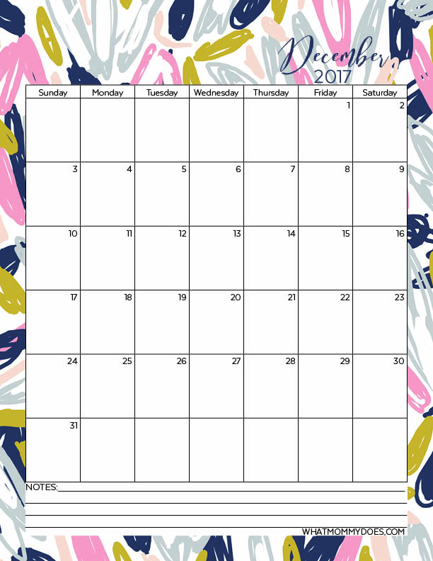 Free Printable Calendar Templates.Free Printable 2017 Monthly Calendars What Mommy Does