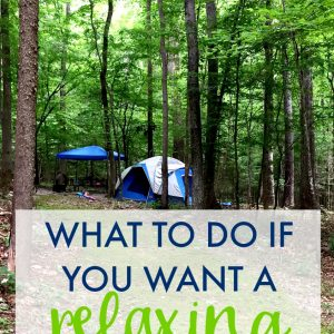 Camping with Kids & Unplugging for a Weekend