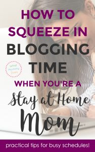 If you've ever considered starting a blog to make money as a stay-at-home-mom, you HAVE to read this!! This blogger is a SAHM to 3 little kids + makes over $10,000 per month. She explains how she fits in blogging time in her days. It's amazing what she accomplishes with these little tricks! I wasn't sure how I'd find time, but this plan is doable with a few changes to my schedule. | blogging tips, starting a bog, blog ideas, money making ideas for moms