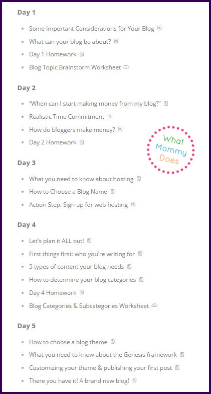 How to Start a Blog Bootcamp - What you'll learn in this FREE blogging course - step by step tutorial for starting a blog