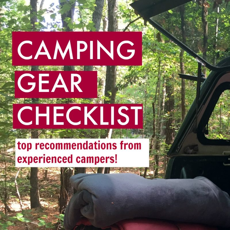 Super handy camping gear checklist if you're going camping with kids especially!