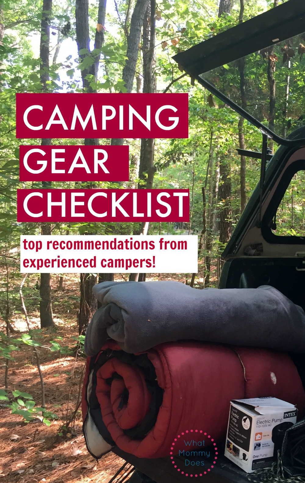 If you're going on a family camping trip anytime soon, make sure you READ THIS FIRST! I wish someone had told me to bring these must-have things the first time I went camping. It's a checklist of the smack-you-on-the-forehead things you need to know to pack!! | family camping ideas, tent camping gear checklist.