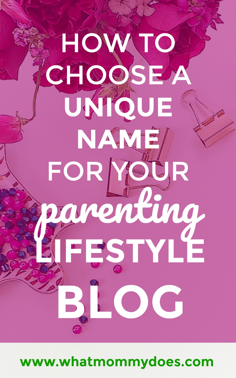 Every time I think I've found the best name for my parenting lifestyle blog, I have to go back to the drawing board because it's taken! I couldn't think of enough alternatives until I read this. It's a great tutorial for helping you decide on a unique blog name that works for your niche. | how to start a lifestyle blog for extra cash on the side, step-by-step blogging tutorials, how to pick a perfect blog name