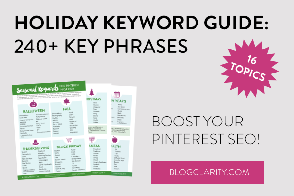 Holiday Keyword Guide Free Download