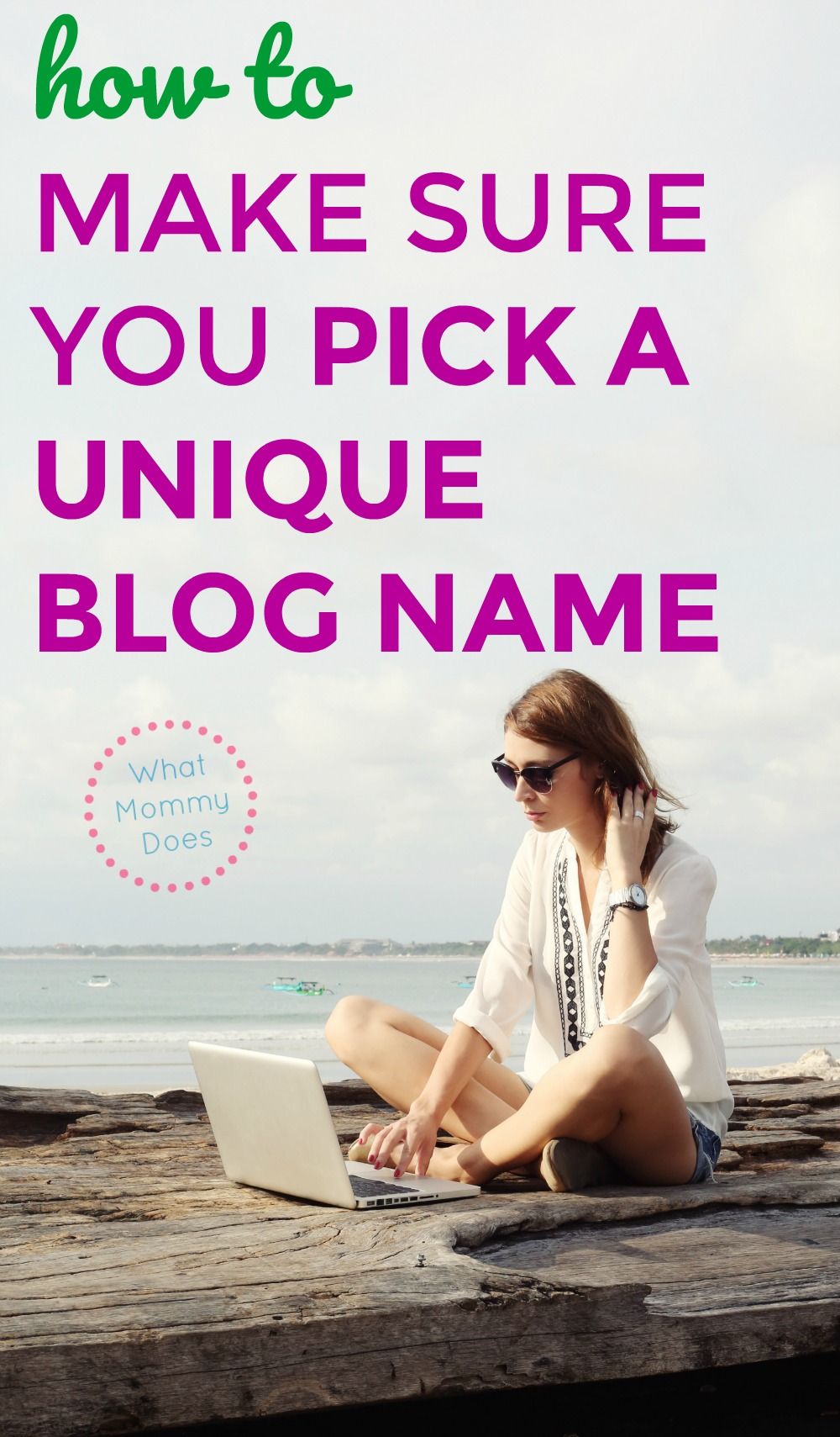 If you have wondered how to find the perfect blog name, this girl will teach you how to choose an attention grabbing blog name you'll love! There's a science to naming your blog the right way. | choose the perfect blog name, blogging ideas, extra cash ideas for moms, money making blog ideas, how to start a blog step-by-step title tutorial