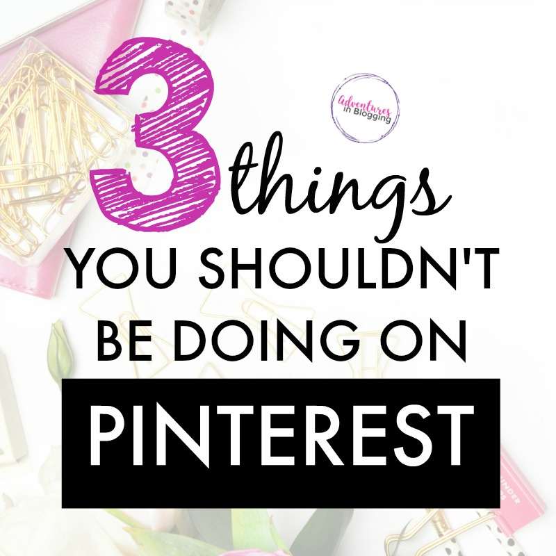 If you're going for Pinterest keywords, don't do these things and focus on Pinterest SEO instead