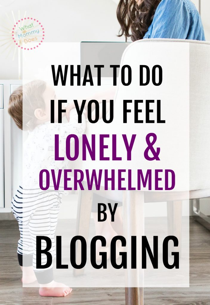 Loneliness & overwhelm in blogging is very REAL! This isn't something many bloggers talk about, but it's the #1 thing that kills most blogs. Working from home is HARD especially when you have no support. There are things you can do to stop feeling this way....