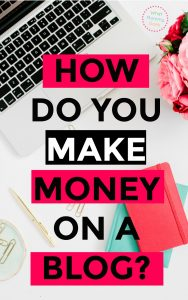 Considering a blog to make money from home? If you start a blog & build it up over the next year or two, you can have a GREAT passive income stream! In this post, Lena explains in detail how blogs make money! | money making ideas for moms, earn extra income from home, #extracash