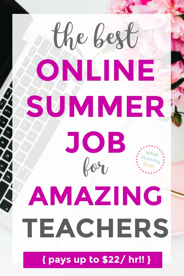 I've been looking for a high paying virtual teaching job like this! This is the BEST online job in the summertime for teachers that I've found! This one pays really well considering it's flexible and you can do the work from home. Several of my teacher friends teach online with this company over the summer for extra money. Apply right now to see if you are a good fit! | great money making ideas for teachers, part time teaching ideas