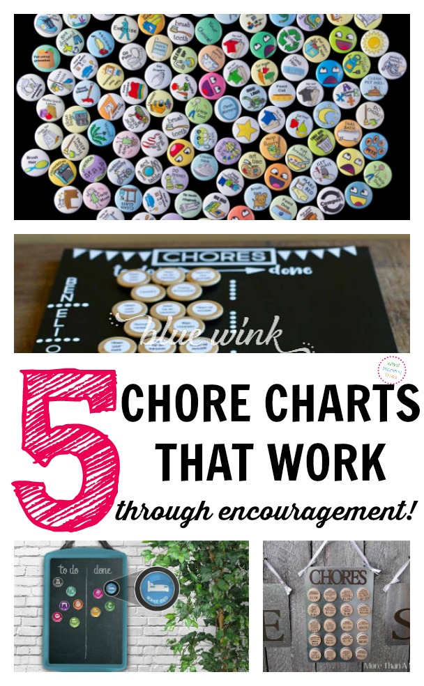 Do you want your kids to HAPPILY do chores WITHOUT WHINING and exactly when you need them to? We used this particular chore chart for years and it worked like a charm! Here are 5 just like it. These teach kids life skills & responsibility. You can easily adapt them to your family and visually keep track of progress. I wish someone had told me about this type of weekly chore tracking system when my kids were little. I had to figure it out the hard way so now you don't have to! | daily chores for kids, magnetic chore chart ideas, cleaning schedule, kids who clean, responsible kids