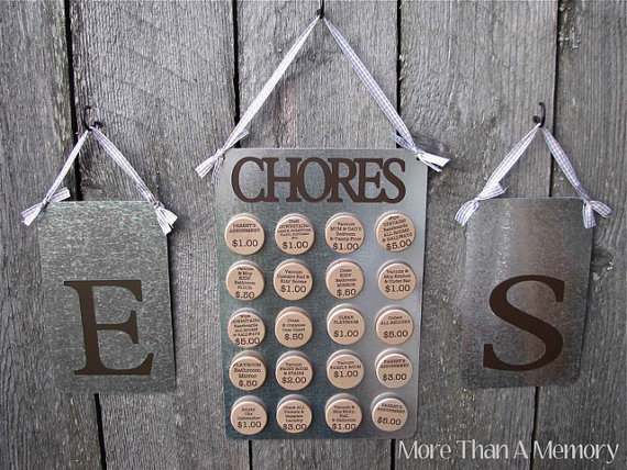 You can use this custom chore chart with prices when you want your kids to learn the value of a dollar