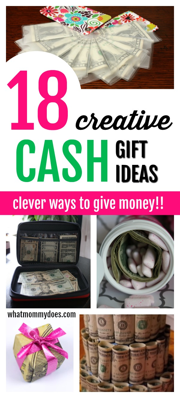 18 Brilliant & Creative Ways to Gift Money! Who doesn't love getting money for Christmas! It's so fun & smart to package up cash presents this way! Check out all 18 unique money gift ideas great for last minute options too | #Christmas #GiftIdeas #GraduationGifts #BirthdayGifts