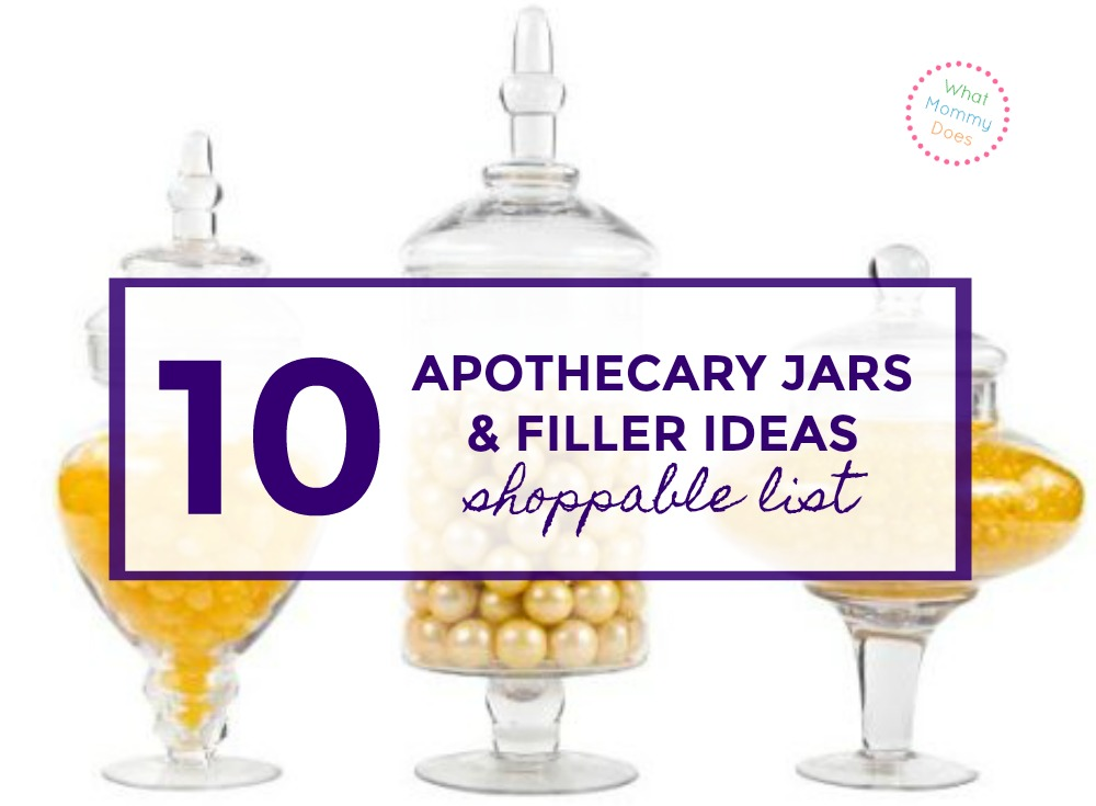 Here's what you should put in your apothecary jar for a bathroom or kitchen.