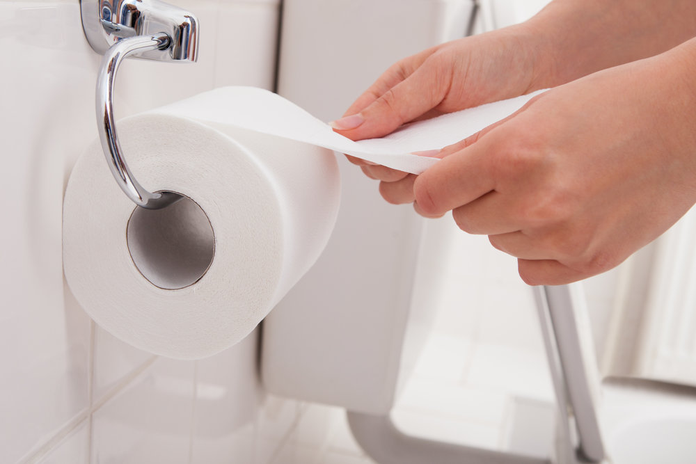 Using toilet paper to wipe the seat will help stop your potty from smelling like pee.