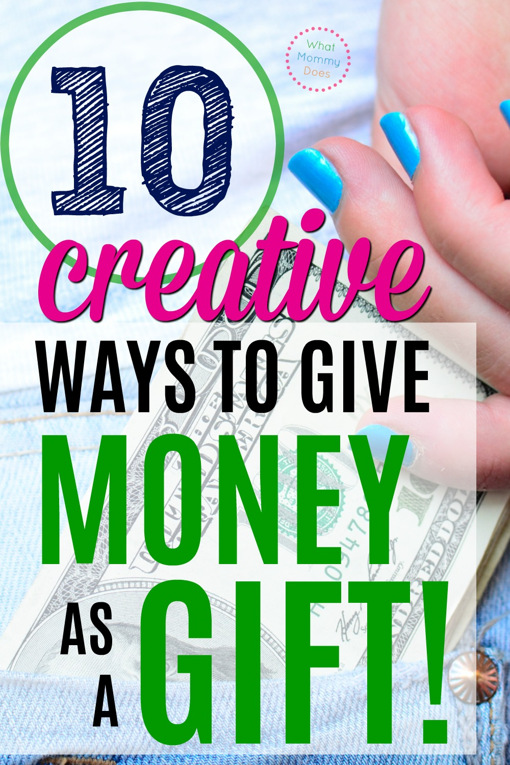 I just love giving money & gift cards for Christmas presents - it's so practical & it's what most people really want! These 10 creative money gift ideas are perfect for teenagers, college students, or anyone who could use money around the holidays. Your gifts will be ready in minutes! You can totally make these gifts last minute in a pinch. :)