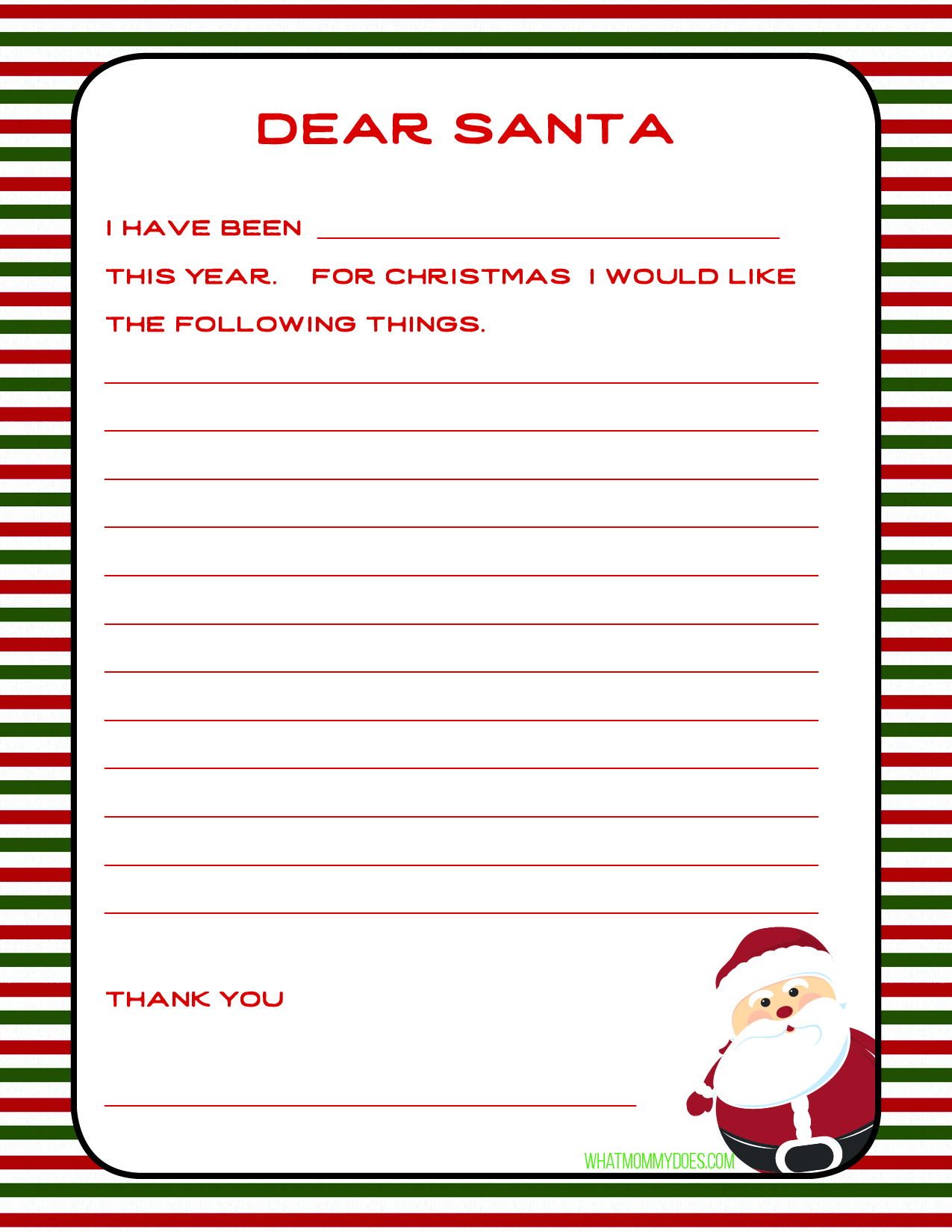 picture regarding Letters to Santa Templates Free Printable known as Very simple Holiday vacation Society Produce a Letter toward Santa with a Cost-free