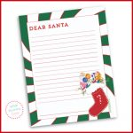 letter to Santa printable for kids to mail