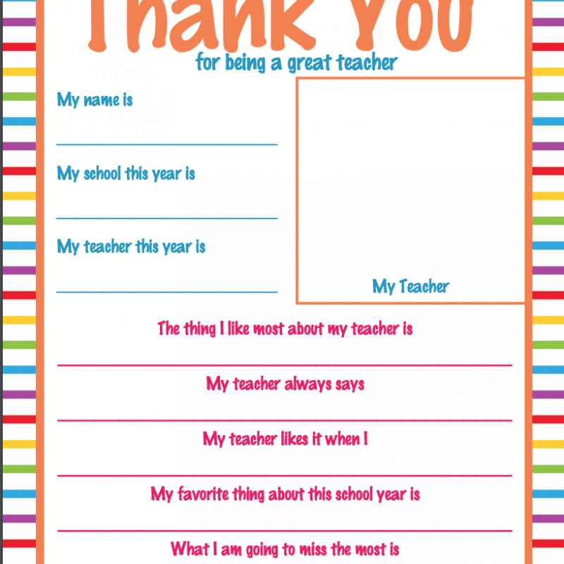picture about Printable Thank You Cards for Teacher identify Back again in direction of Higher education - What Mommy Does